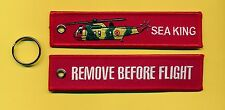 Sea King embroidered Key Ring/Tag - New