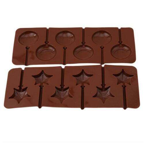 Cake Mold Soap Mold Flexible Silicone Mould For Candy Chocolate Lollipop NEW S