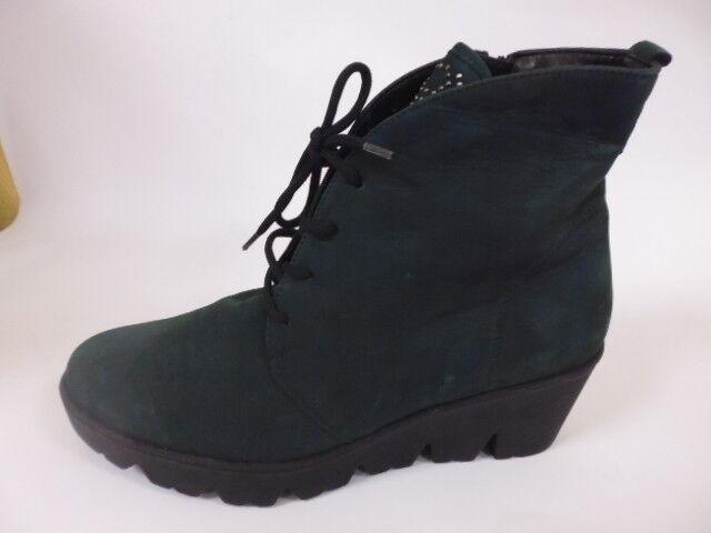 Bosque alfil talla 7 40,5 WH botines botas zapatos cuero cuero cuero petrol  últimos estilos