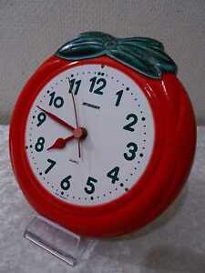 Staiger Design reloj de pared cerámica-vintage para 1970-forma de manzana-Graziela-estilo