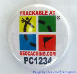Set-of-8-Trackable-Geocaching-Buttons-Smiley-Frownie-Logo-Ammo-Cans-amp-More