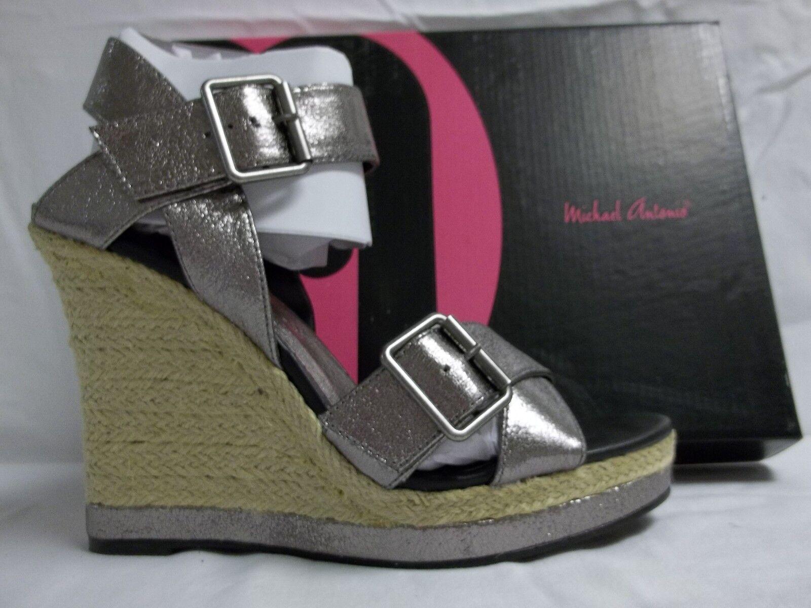 Michael Antonio Größe 9 M Gladwinn Pewter Schuhes Metallic Wedges New Damenschuhe Schuhes Pewter 759a81