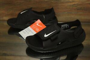 Nike-Sunray-Adjust-5-GS-PS-Black-White-AJ9076-001-Kid-039-s-Shoes-Multi-Size-NEW