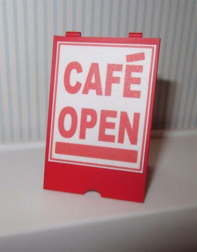 S93 MINIATURE DOLLHOUSE 1:12 SCALE CAFE /'A/' BOARD SIGN CAFE OPEN