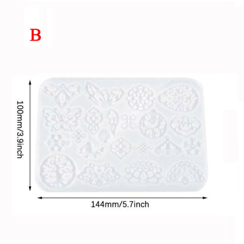 NEW DIY Silicone Earring Pendant Mold for Resin Epoxy Jewelry Making Mould Tool