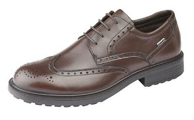 Mens Formal And Executive IMAC Leather Brogue Gibson Black