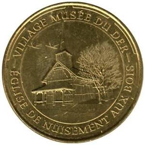 51-1810 - JETON TOURISTIQUE MDP - Village Musée du Der - Eglise - 2014.5