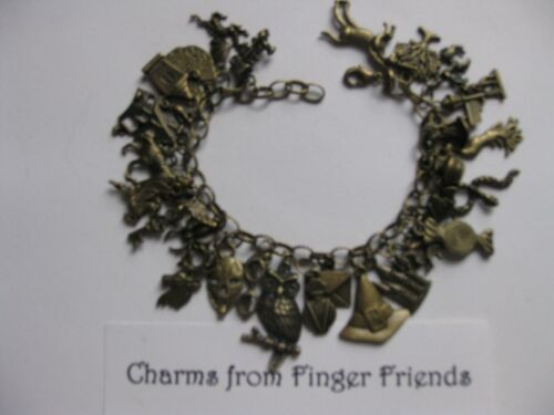 Harry Potter inspired fantastic 29 charm bracelet good for card /& scrapbooking