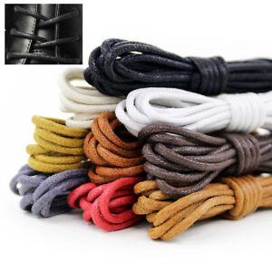 18e2656ffdf4e Details about Waxed Cotton Shoelaces Round Dress Wax Cord Shoe Laces  Brogues Shoes 60-180cm