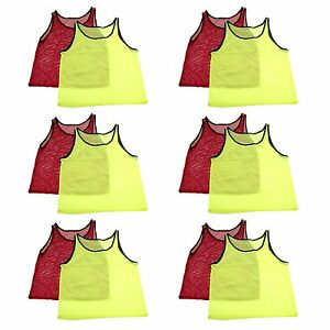 cheaper 0ae17 187c8 Details about ADULT Mesh Vest Scrimmage Jerseys Sports Practice Pinnies  Training School Team