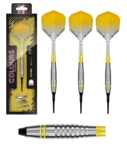 Target Dart Colours II 2 70/% Tungsten Gelb 18g 3 Dartpfeile NEU Soft Dart