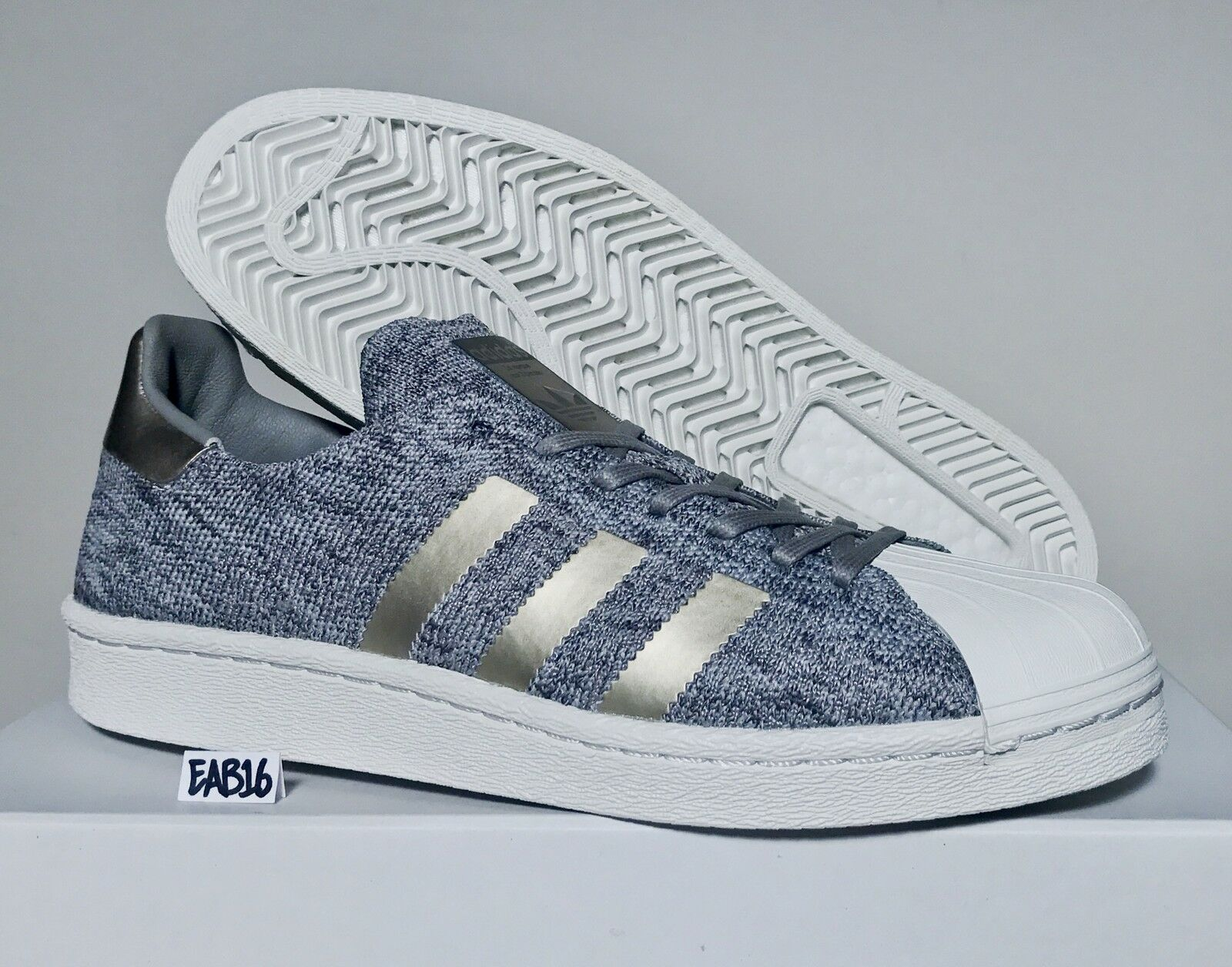 Adidas Superstar PK NM BOOST Noble Metals BB8973 Shell Toe Toes Ultra Grey Gold