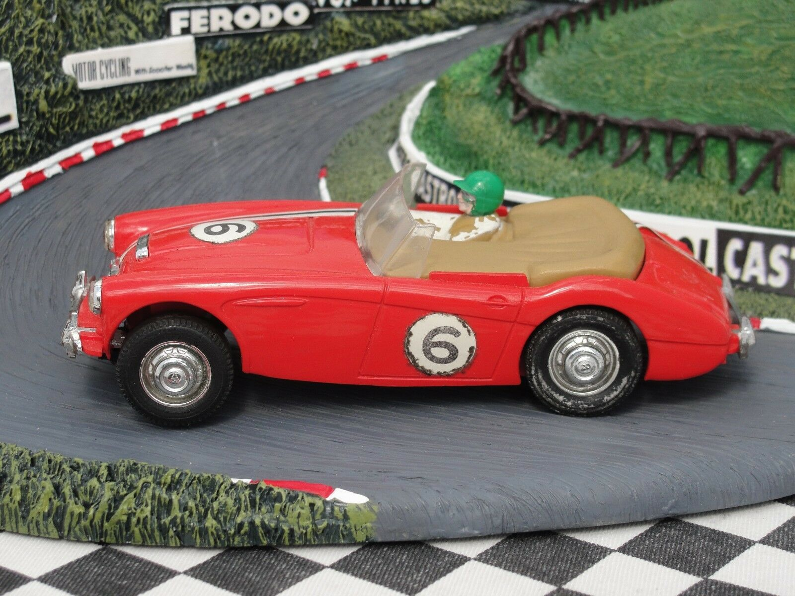 SCALEXTRIC 1960'S AUSTIN HEALEY 3000 RED USED UNBOXED
