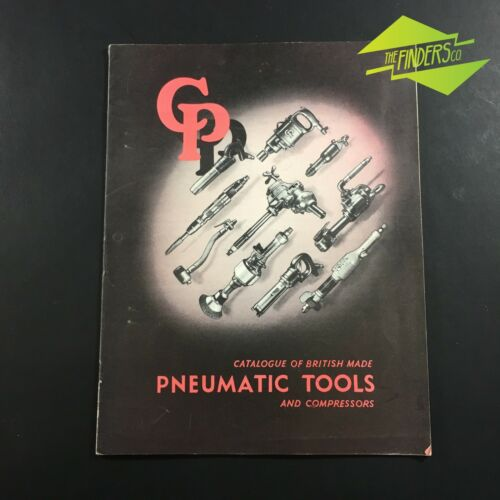 1954 VINTAGE CONSOLIDATED PNEUMATIC TOOLS LONDON CATALOGUE AIR TOOLS DRILLS COMP