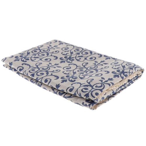 Tovaglia decorativa in lino blu e bianco in cotone e cotone