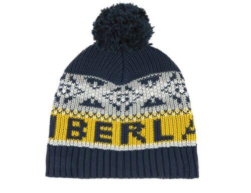 Timberland kids bleu marine multi tricot pom pom beanie enfiler chapeau