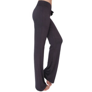 where to buy diversified latest designs 2020 Details about IvyFlair Women's Solid Color Drawstring Wide Leg Cotton Yoga  Sweatpants Leggings