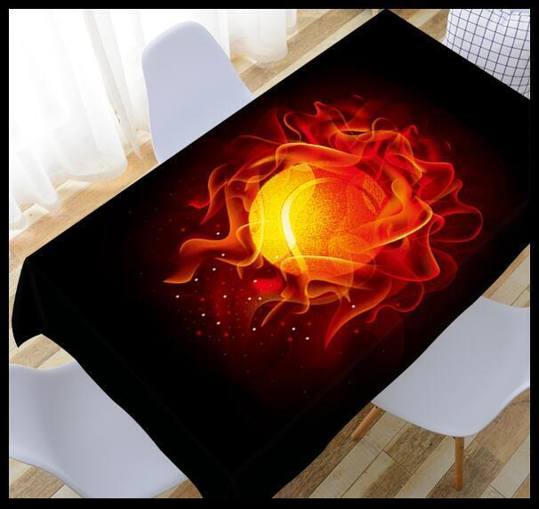 3D Fireball 6 Tablecloth Table Cover Cloth Birthday Party Event AJ WALLPAPER AU
