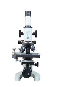 2500x-Vet-Compound-Lab-Microscope-w-LED-Lamp-w-100x-Oil-3D-Stage-Fine-Focus