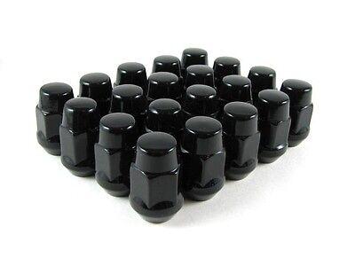 Lug Nuts Bulge Acorn 12x1.5 Nut 20 New Black