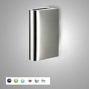 Neu-LED-Wandleuchte-Wandlampe-Aussenleuchte-Aussenlampe-Edelstahl-up-amp-Down-IP44