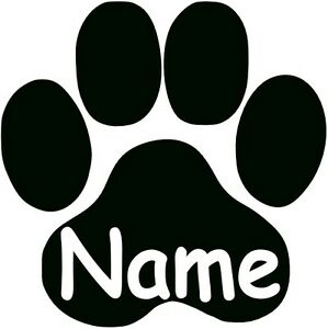 Pfote Mit Wunschname Katzenpfote Hundepfote Aufkleber Wandtattoo Ebay