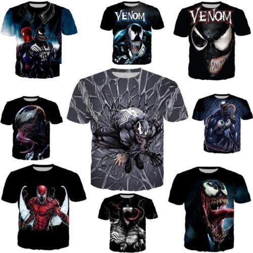 Women/'s//men/'s movie Venom 3D print Short Sleeve Casual Tops T-Shirts S-5XL TN88