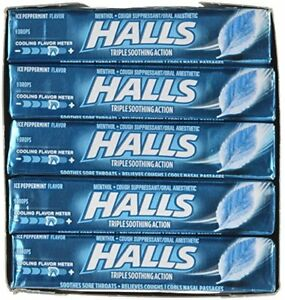 HALLS-Cough-Suppressant-Oral-Anesthetic-Drops-Ice-Peppermint-9-ea-Pack-of-20