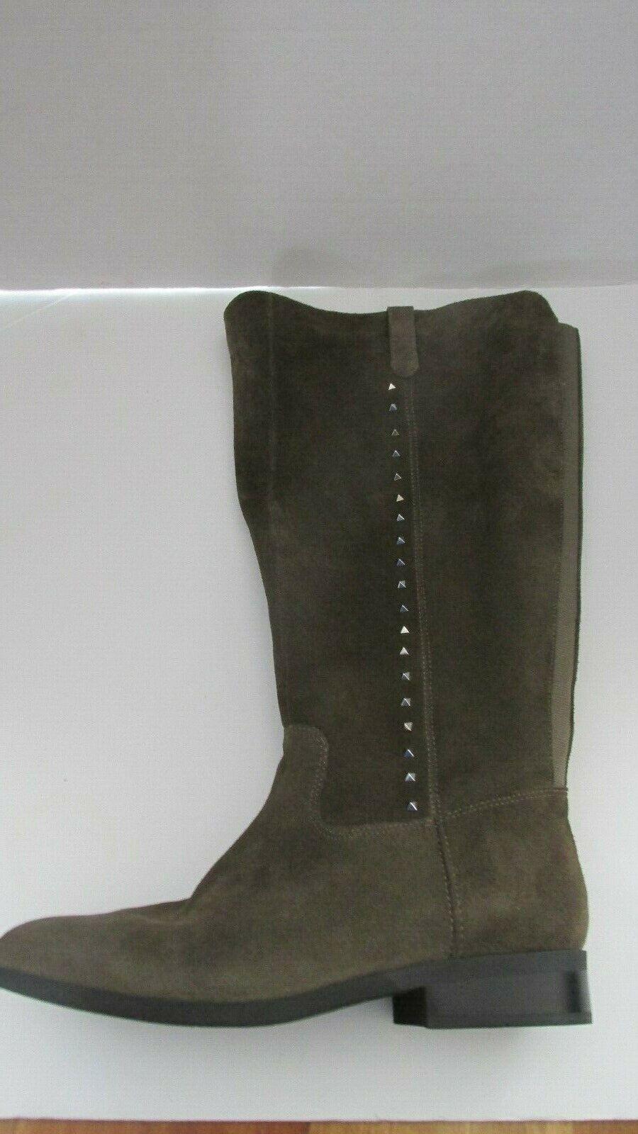 Marc Fisher ancho de piel de becerro Eje de Alto botas Secrit gris Topo Gamuza 8.5 de ancho