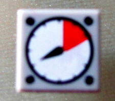 LEGO 3070bp07 @@ Tile 1 x 1 White and Red Gauge Pattern @@ 6752 10219 70605