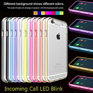 sneakers for cheap 7ed2c 776b0 Details about LED Light Up Selfie Luminous Phone Case Skin Cover For iPhone  5 5s SE 6 6S Plus