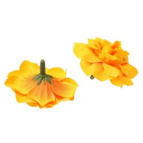 50pcs Soie Artificielle Stapelia//Oeillet Bridal Flower heads pour Clips Mariage