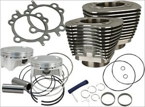 S-amp-S-Cycle-107-034-CI-Big-Bore-Cylinder-Kit-Black-10-5-1-Compression-07-16-Harley