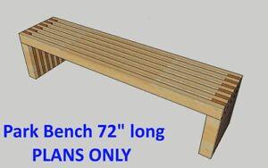 "72"" long Bench PLANS DIY 2x4 wood design Patio Garden ..."