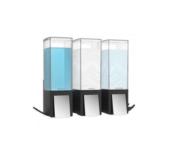 3 DISTRIBUTORE CLEVER CLEVER CLEVER II schwarz dispenser sapone hotel casa campeggio B&B ufficio fdd320