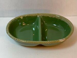 Vintage-Hull-Green-Drip-Avocado-Divided-Serving-Dish-10-1-2-034-long