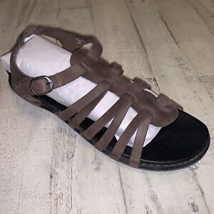 KEEN-Sandal-Brown-Leather-Strappy-Comfort-Adjustable-Sandals-Women-039-s-Size-10