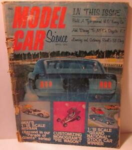 Details about Model Car Science Magazine, April 1970, 1/32 IMC Torino with  Champion Chassis