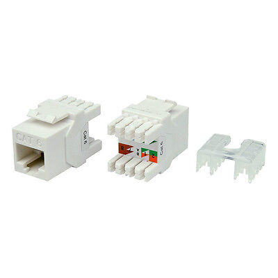 6pcs//pack Gigabit Cat6 Keystone Jacks optimized for faceplate /& blank panel