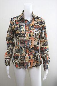 Kleurrijk shirt Size11 Uniek mouwen Tucci met Down Button lange 12 Pictures Top CxBorQWde