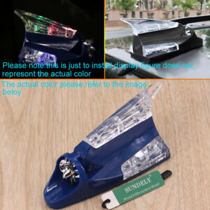 Car Decorative Multi-color Wind Power LED Light Antenna White Cover Universal