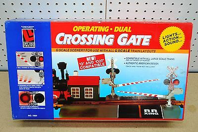 LGB/Life-Like #1964 Operating Dual Crossing Gate w/Sound & Lights *G-Scale*    eBay