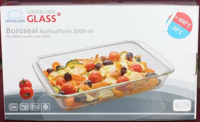 LOCK & LOCK Glass Boroseal mikrowelle ofen Auflaufform Dose 3000ml