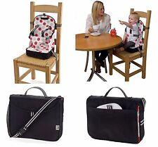 Polar Gear Baby Portable Booster Seat Toddler Feeding Highchair Safety (Black)