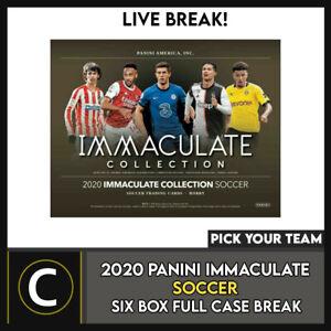 2020 PANINI IMMACULATE SOCCER 6 BOX (FULL CASE) BREAK #S117 - PICK YOUR TEAM