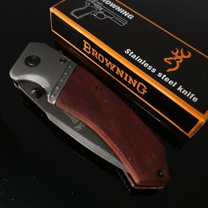 Browning knife F82 Folding  Opening Pocket Knife Hunting, Camping, Survival