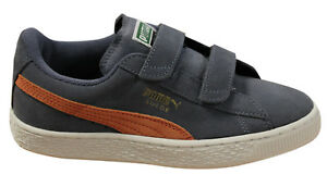 wholesale dealer a0a6a 7ee91 Details about Puma Suede 2 Strap Kids Trainers Leather Shoes Grisaille  356274 07 B36