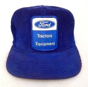 dc5b909ac02 Image is loading Vintage-Ford -Tractor-Equipment-Rare-Corduroy-Snapback-Trucker-