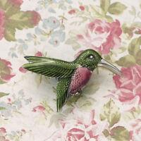 Danforth Pewter 2 Wide Hummingbird Brooch