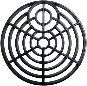 """Drain Cover 6"""" ROUND 150mm Black Plastic Grate Gulley Grid Leaf Guard Gutter"""